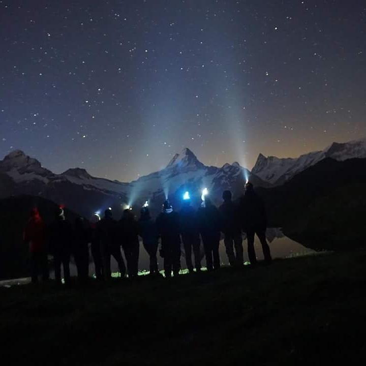 Sternschnuppennacht In Den Alpen